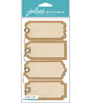 Burlap Tags With Twine, , hi-res