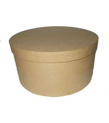 Paper Mache 10'' Hat Box-Round