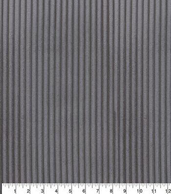 P/K Lifestyles Upholstery Fabric 54''-Charcoal Corduroy Fur