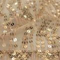 Casa Embellish Mesh Fabric 56\u0027\u0027-Gold Uncut Dangles