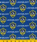 LA Galaxy Cotton Fabric 58\u0022-Logo