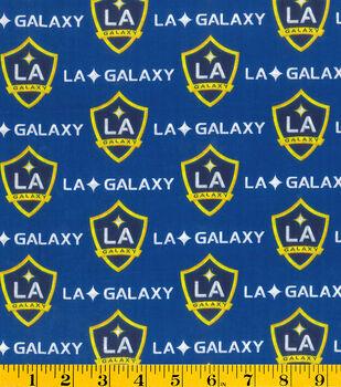 LA Galaxy Cotton Fabric -Logo