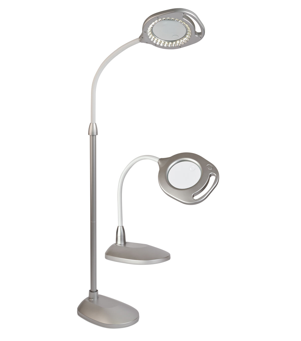 Ordinaire OttLite 2 In 1 LED Magnifier Floor U0026 Table Lamp Silver