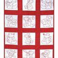 Nursery Quilt Blocks 9\u0022x9\u0022 12/Pkg-Baby Bears