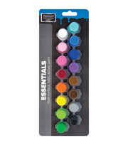DecoArt Americana Multi-Surface 16 pk Satin Paint Pots-Essentials, , hi-res