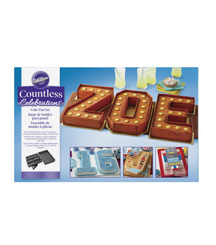 Wilton Countless Celebrations Cake Pan Set, 10-Piece Letter & Number Pan