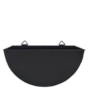 In the Garden 14'' Metal Wall Planter-Black