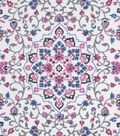 Snuggle Flannel Fabric -Emma Medallion