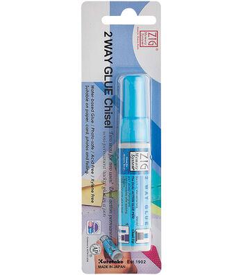 Zig 2-Way Glue Pen Carded-Chisel Tip