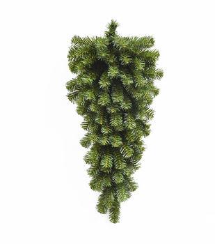 Handmade Holiday Christmas 24'' Pine Teardrop-Green