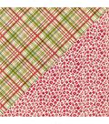Nostalgia Double-Sided Cardstock 12\u0022X12\u0022-#7 Red Ornaments