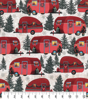 Christmas Cotton Fabric-Christmas Campers Cream