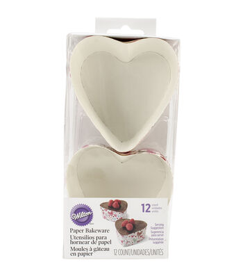 "Wilton Disposable Bakeware 12/Pkg-3"" Heart"