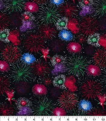 Patriotic Cotton Fabric 43''-Firework Finale