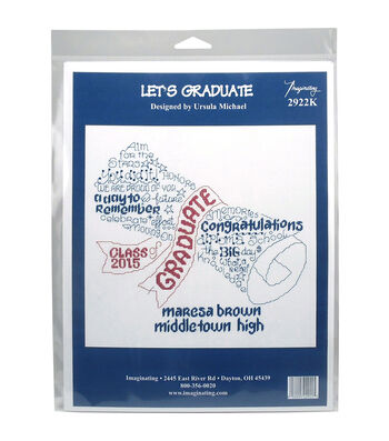 Imaginating Counted Cross Stitch Kit-Let's Graduate Graduation Record