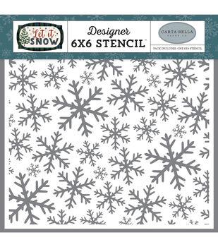 "Carta Bella Stencil 6""X6""-Frosted Window Panes"