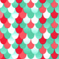 Snuggle Flannel Fabric -Coral Mermaid Scales