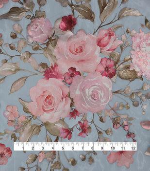 Casa Embellish Dahlia Fabric-Serenity Floral Print Organza