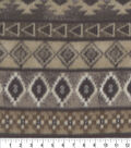 Anti-Pill Fleece Fabric 59\u0022-Brown Aztec Stripe