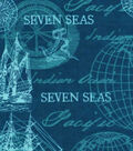 Snuggle Flannel Fabric -Navy Sailing Mix