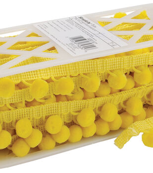 """Simplicity Trims-1 1/8"""" Ball Fringe Canary"""