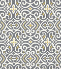 Robert Allen @ Home Lightweight Decor Fabric 54\u0022-New Damask Greystone