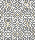 Home Decor 8\u0022x8\u0022 Fabric Swatch-Robert Allen New Damask Greystone