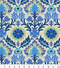 Waverly Sun N Shade Fabric 9\u0022x9\u0022 Swatch-Santa Maria Azure