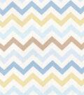 Snuggle Flannel Fabric -Baby Chevron