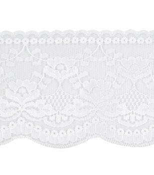 Simplicity Trims-Flat Lace White