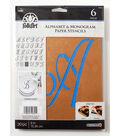 FolkArt 30 pk 6\u0027\u0027 Alphabet & Monogram Paper Stencils-Script Font