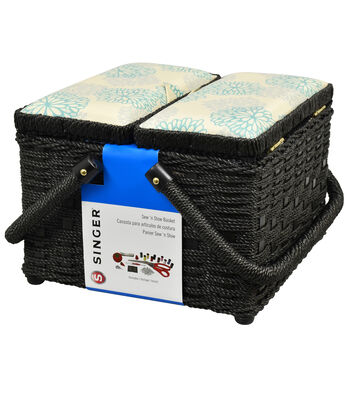 Singer Sewing Basket with Notions Kit-Square Picnic
