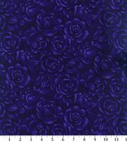 Keepsake Calico Cotton Fabric 44''-Plum American Beauty, , hi-res