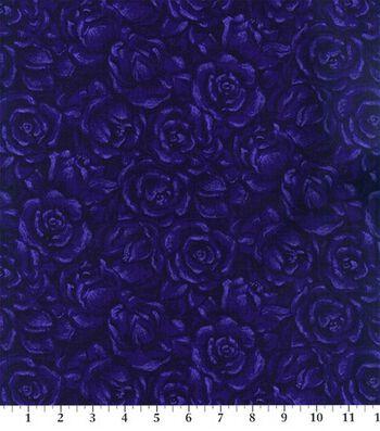 Keepsake Calico Cotton Fabric 44''-Plum American Beauty