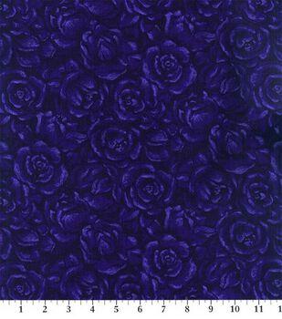 Keepsake Calico Cotton Fabric -Plum American Beauty