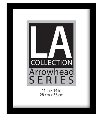 LA Collection Arrowhead Series Plastic Flat Top Frame 11''x14''-Black