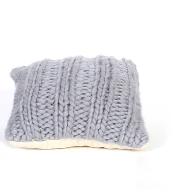 Simply Autumn Cable Knit Pillow