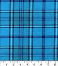Snuggle Flannel Fabric 42\u0022-Aqua Purple Plaid