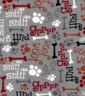 Snuggle Flannel Fabric -Sniff Sniff Ruff Grr