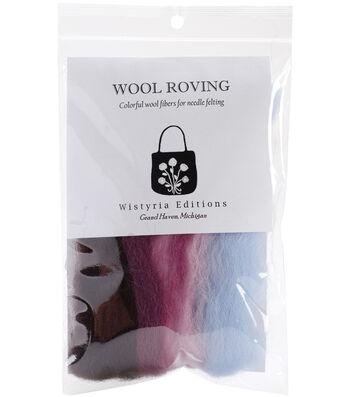"""Wool Roving Stripe 12"""" .25oz-Sea Shell"""