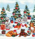 Christmas Cotton Fabric-Pups in the Snow