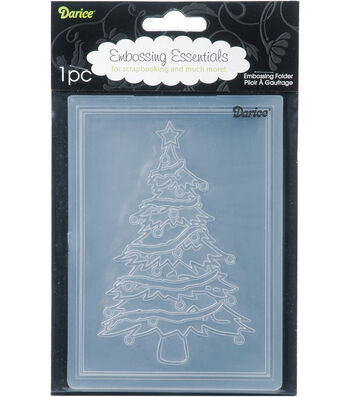 "Embossing Folder 4.25""X5.75""-Christmas Tree"