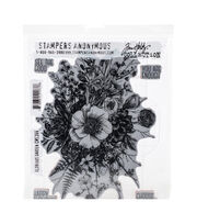 Tim Holtz Cling Stamps 7''X8.5''-Glorious Garden, , hi-res