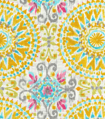 Dena Upholstery 8x8 Fabric Swatch-Give It A Whirl/Blossom