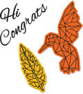 Sizzix Framelits Jen Long Die & Stamp Set-Fly High