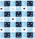 Nursery Cotton Fabric -Love You to the Moon and Back Patch