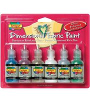 Scribbles Dimensional Fabric Paint 1 Ounce-Glittering, , hi-res