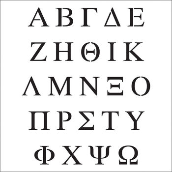 """Crafter's Workshop Template Greek Letters 6"""" x 6"""""""
