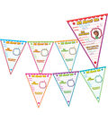 Teacher Created Resources All About Me Pennants Bulletin Board Set