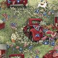 Susan Winget Patriotic Cotton Fabric -Patriotic Picnic
